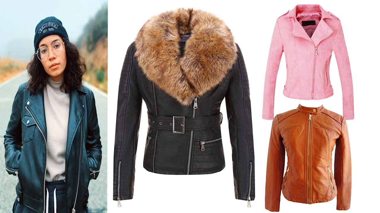 Cheap Women's Leather Motorcycle Jackets