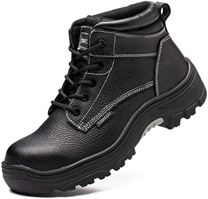 TOSAFZXY Leather Men's Cheapest Work Boots